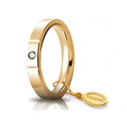 Fede 1AR Cerchi di Luce 3,5 mm Oro Giallo con Diamante