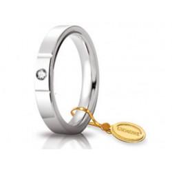Fede 1AR Cerchi di Luce 3,5 mm con Diamante Oro Bianco