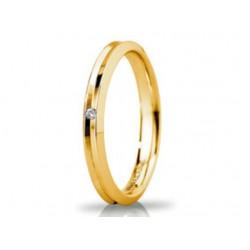 Fede Unoaerre Corona Slim con Diamante oro Giallo
