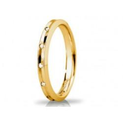 Fede Unoaerre Corona Slim ct. 0,08 Oro Giallo